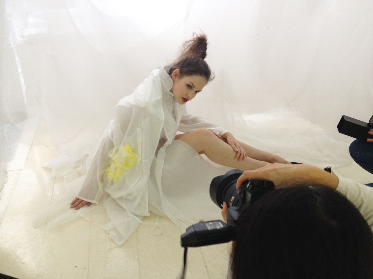 "Shooting Editorial avec Ken Okada ""Collection SS16 in the pure white cocoon"""